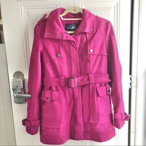 Green with Envy pink women's winter coat Size M